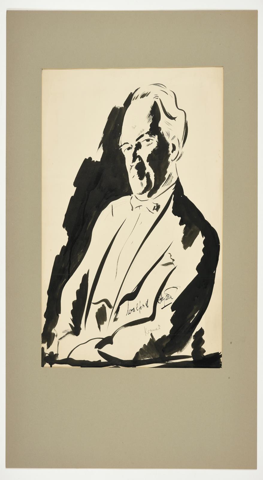 Jacob Kramer (1892-1962) ''Walford Hyden'', half length portrait Signed in pencil, inscribed in ink, - Image 2 of 5