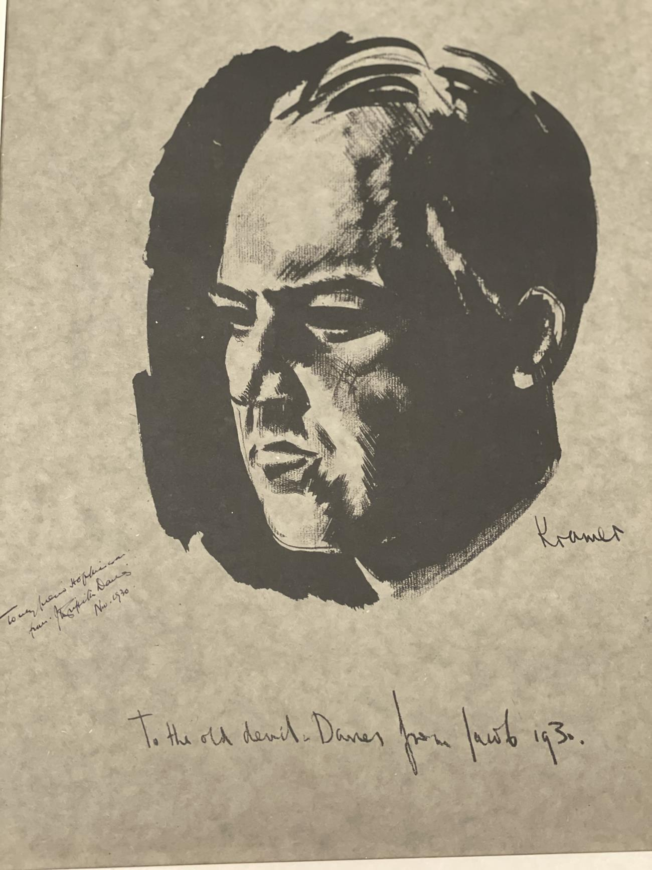 Jacob Kramer (1892-1962) ''Evelyn Williams'', Head portrait study Signed, inscribed with sitter - Image 6 of 8