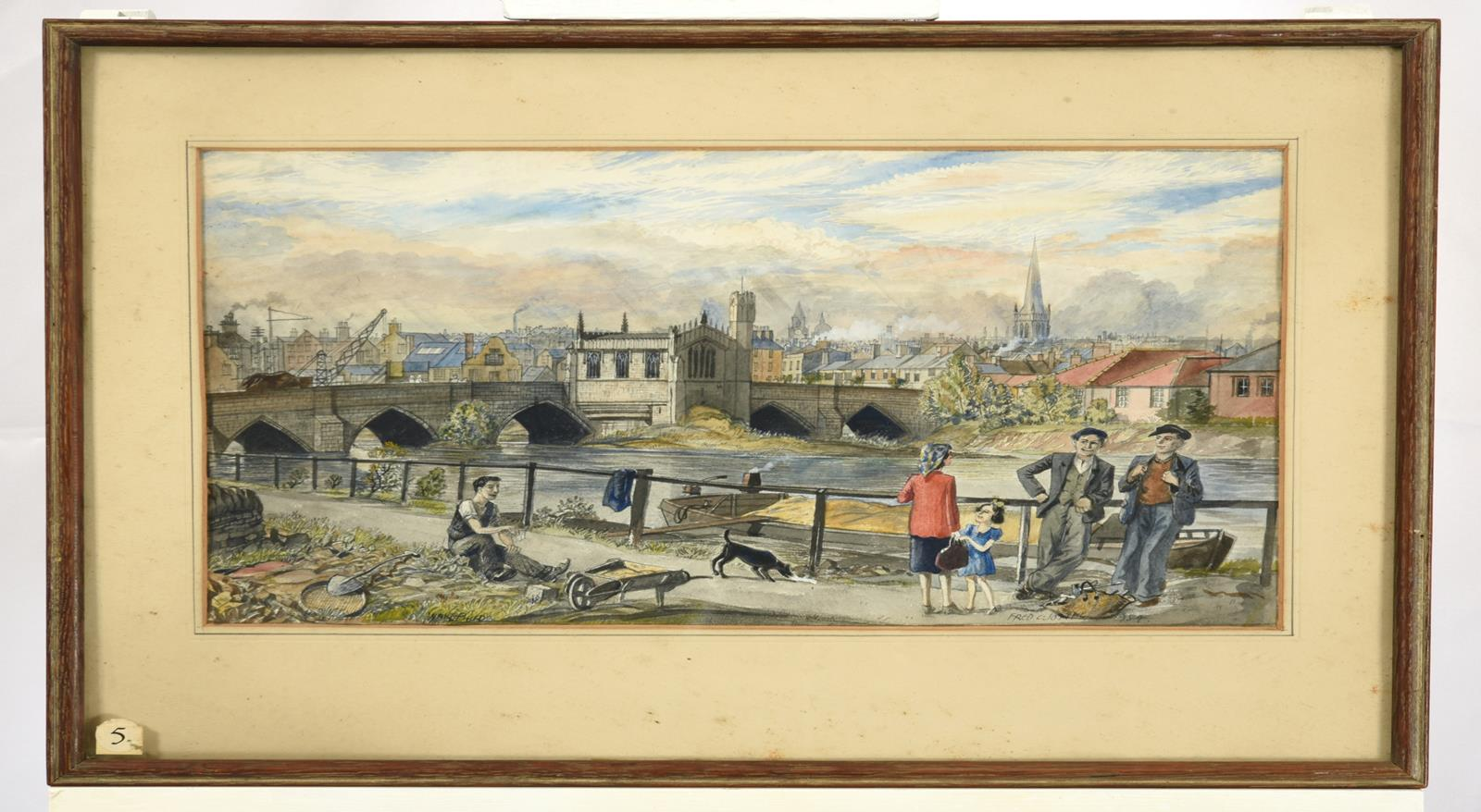 Frederick (Fred) Cecil Jones RBA (1891-1966) ''Wakefield'' Signed, inscribed and dated 1954, further - Image 2 of 3