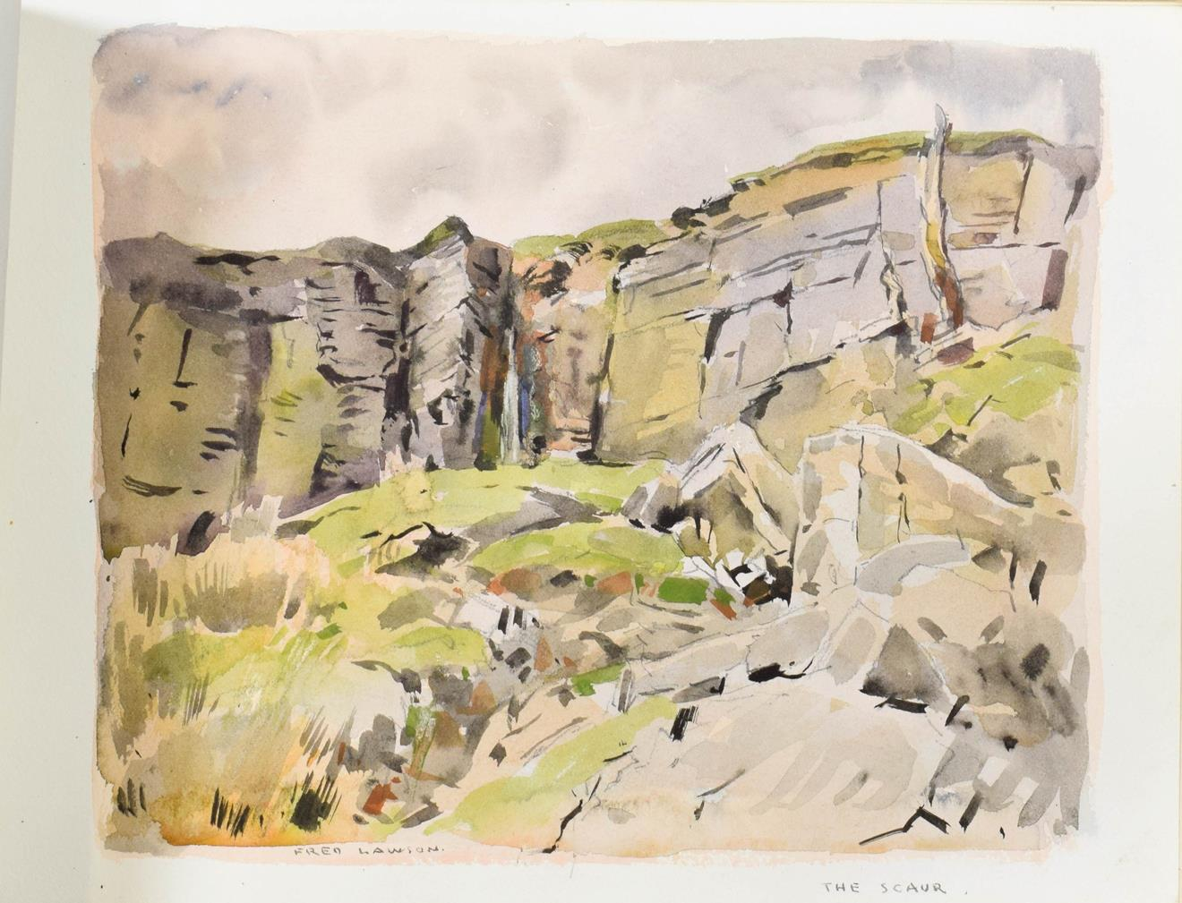 Frederick (Fred) Lawson (1888-1968) A sketchbook containing 19 works on paper to include '' - Image 12 of 13