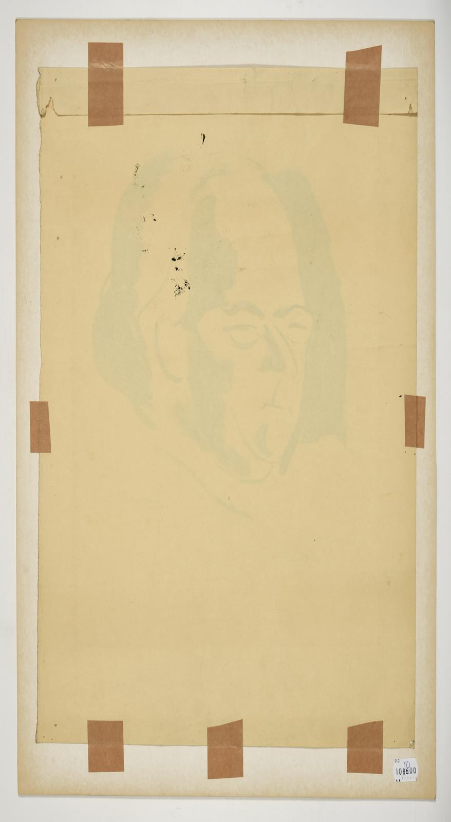 Jacob Kramer (1892-1962) ''Walford Hyden'', half length portrait Signed in pencil, inscribed in ink, - Image 5 of 5
