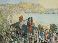 Frederick (Fred) Cecil Jones RBA (1891-1966) ''Scarborough'' Signed, inscribed and dated 1950, mixed
