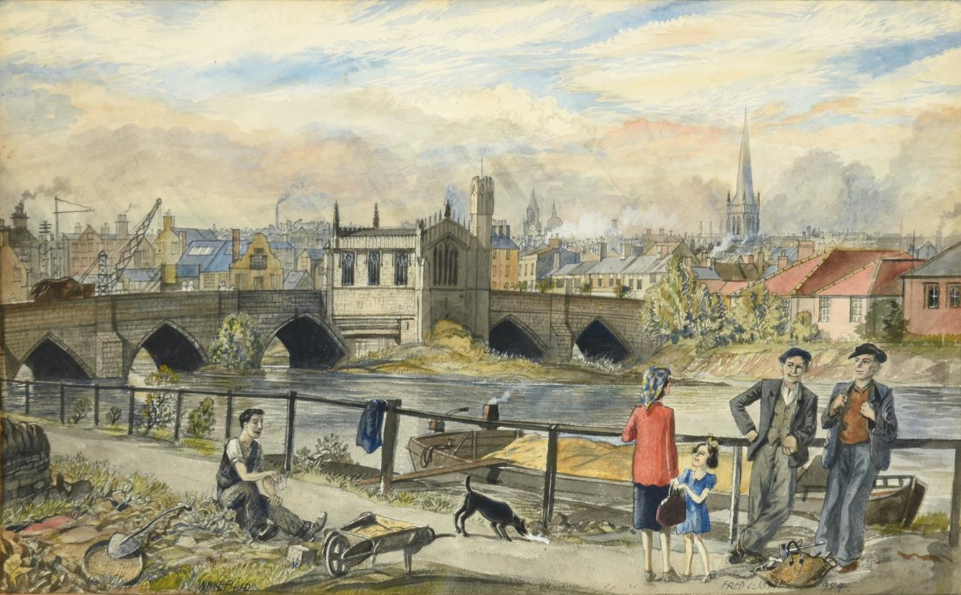 Frederick (Fred) Cecil Jones RBA (1891-1966) ''Wakefield'' Signed, inscribed and dated 1954, further