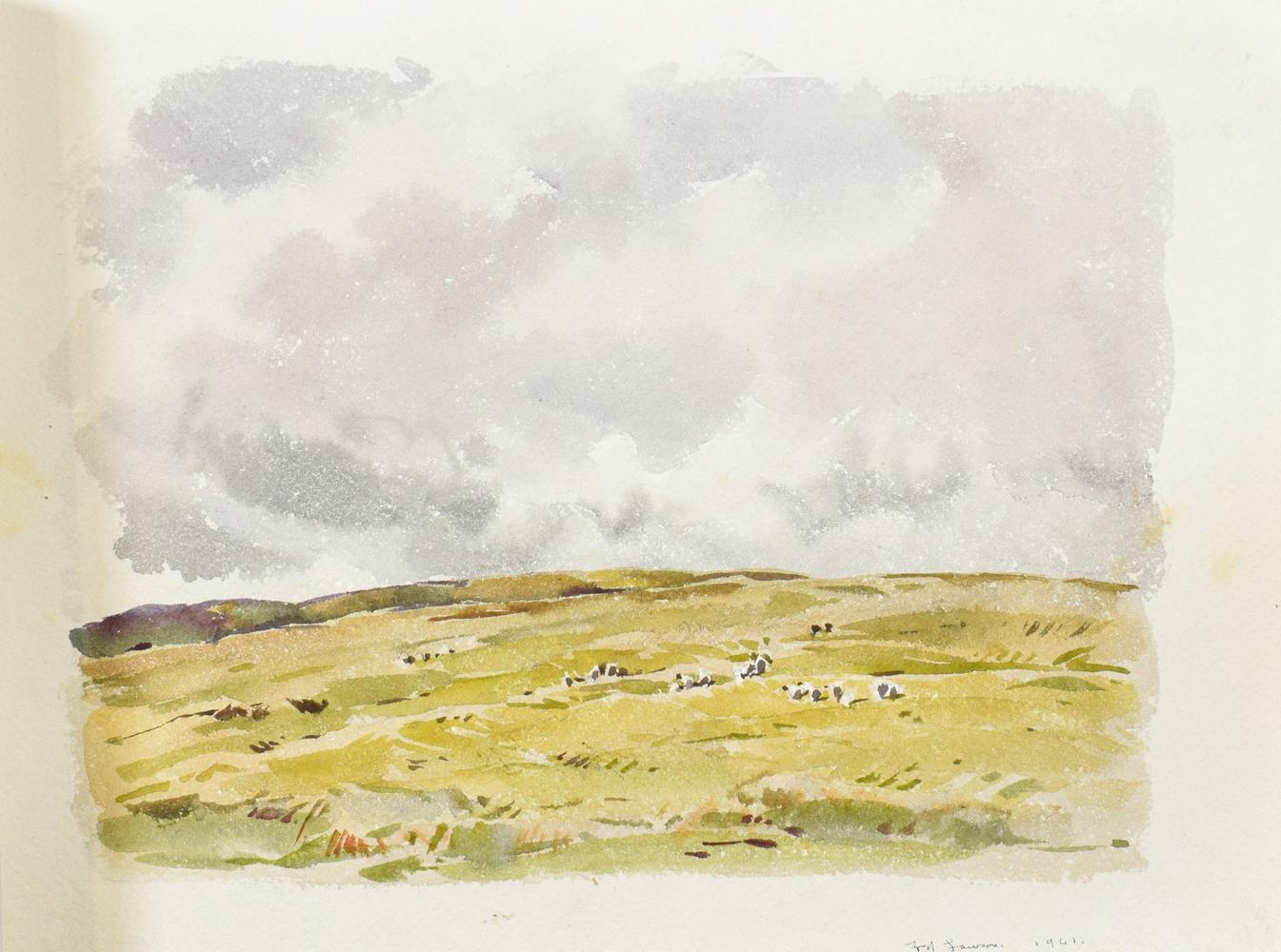 Frederick (Fred) Lawson (1888-1968) A sketchbook containing 19 works on paper to include '' - Image 3 of 13