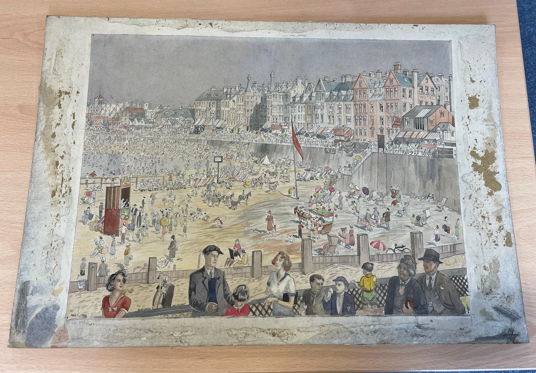 Frederick (Fred) Cecil Jones RBA (1891-1966) ''Morecambe, Lancashire'' Signed, inscribed and dated - Image 2 of 2