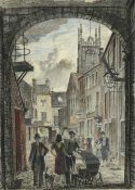 Frederick (Fred) Cecil Jones RBA (1891-1966) ''Huddersfield'' Indistinctly signed, inscribed and