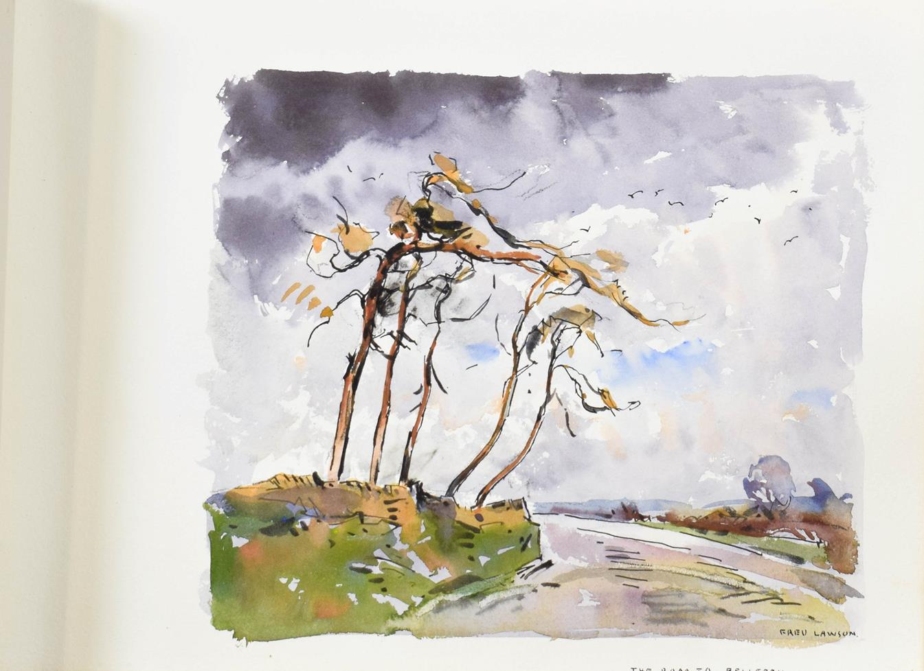 Frederick (Fred) Lawson (1888-1968) A sketchbook containing 19 works on paper to include '' - Image 10 of 13