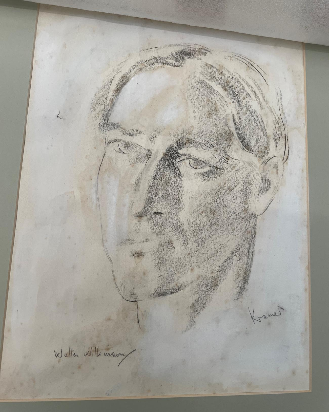 Jacob Kramer (1892-1962) ''Evelyn Williams'', Head portrait study Signed, inscribed with sitter - Image 5 of 8