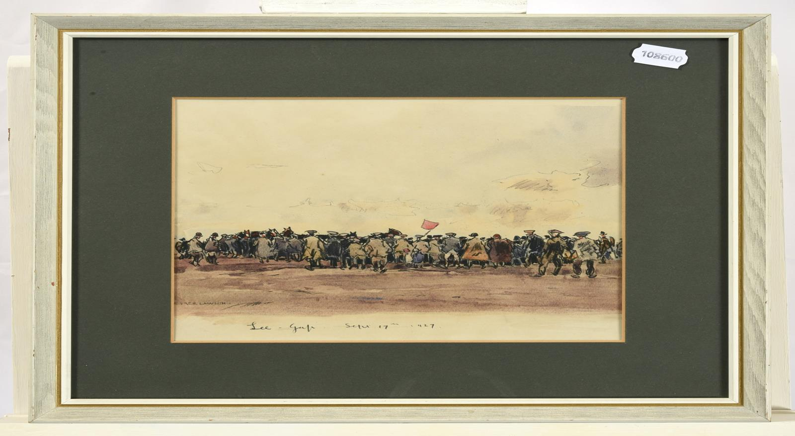 Frederick (Fred) Lawson (1888-1968) ''Lee Gap'' Fair Signed, inscribed and dated Sept. 17th 1927, - Image 2 of 3