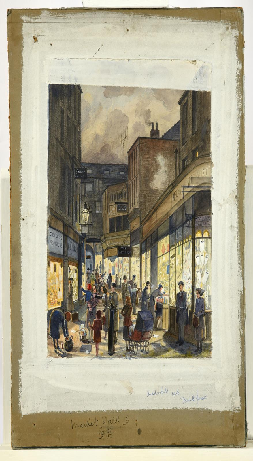 Frederick (Fred) Cecil Jones RBA (1891-1966) ''Huddersfield'' Indistinctly signed, inscribed and - Image 2 of 7