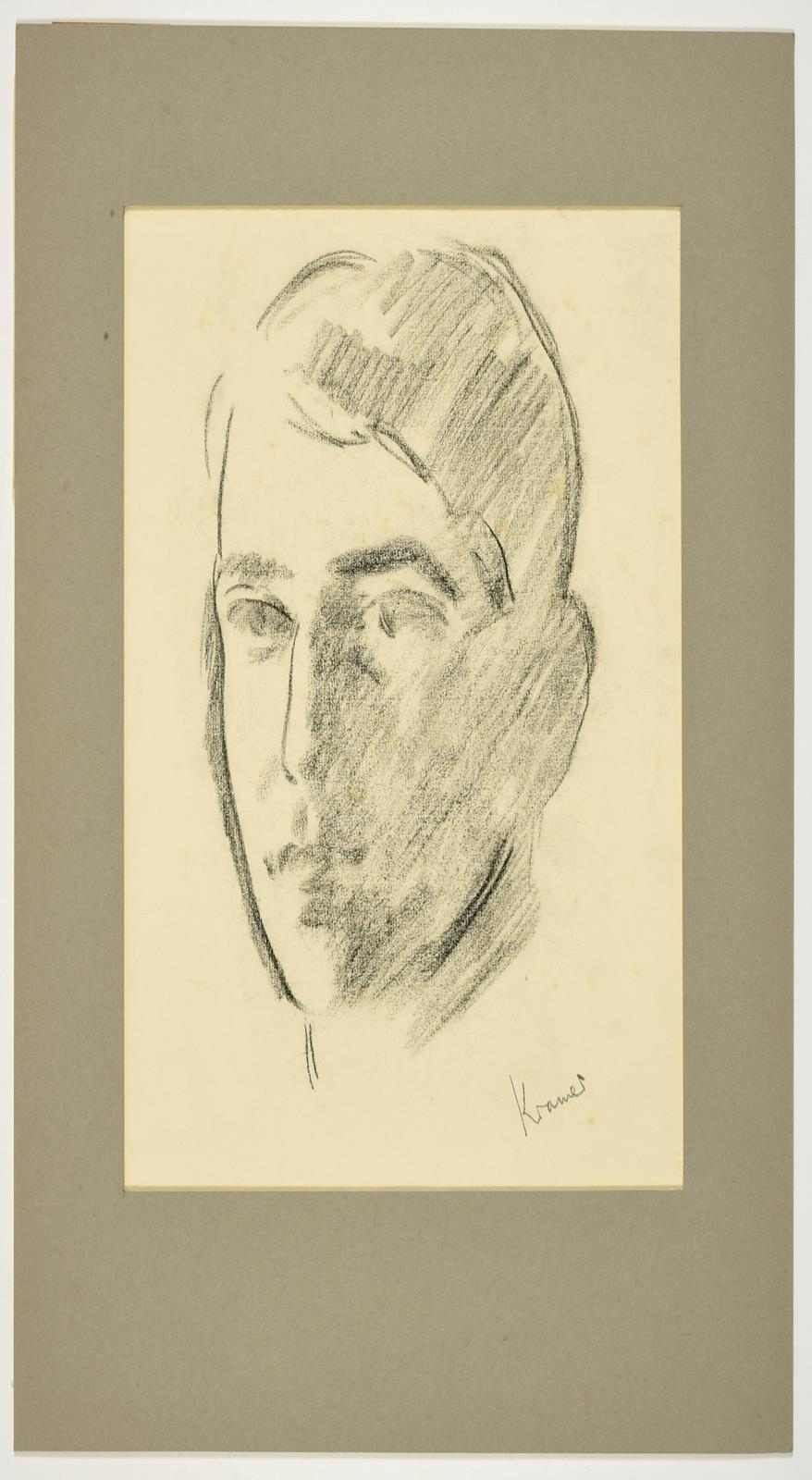 Jacob Kramer (1892-1962) ''Evelyn Williams'', Head portrait study Signed, inscribed with sitter - Image 2 of 8