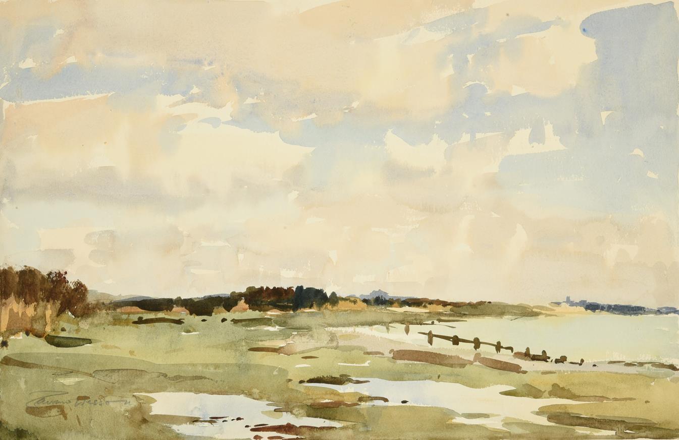 Edward Wesson RI, RBA, RSMA (1910-1983) ''Klimping Beach, near Worthing, near Littlehampton''