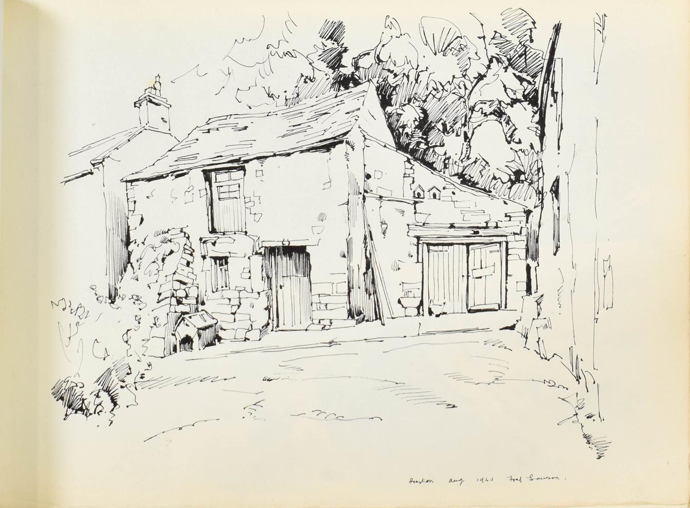Frederick (Fred) Lawson (1888-1968) A sketchbook containing 19 works on paper to include '' - Image 7 of 13