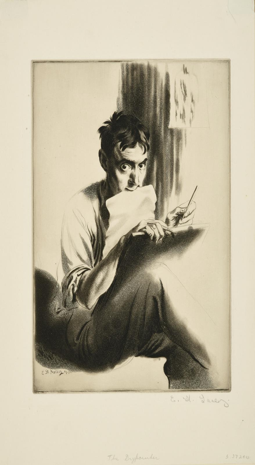 Edward Hill Lacey (1892-1967) ''The Drypointer'' (1930) Signed and inscribed in pencil to margin, - Image 2 of 3