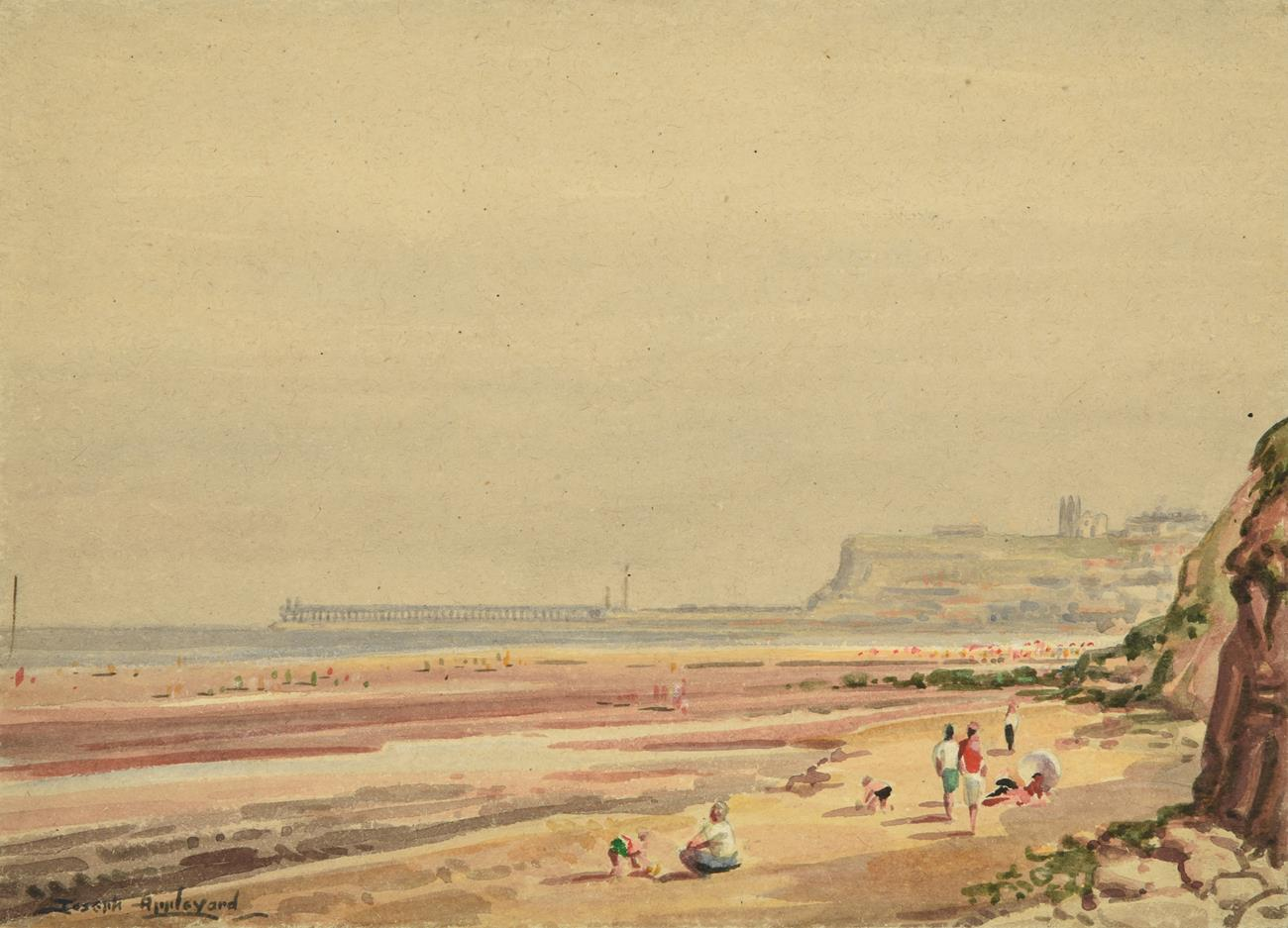 Joseph Appleyard (1908-1960) ''The Beach, Whitby'' Signed, inscribed verso, watercolour laid down,