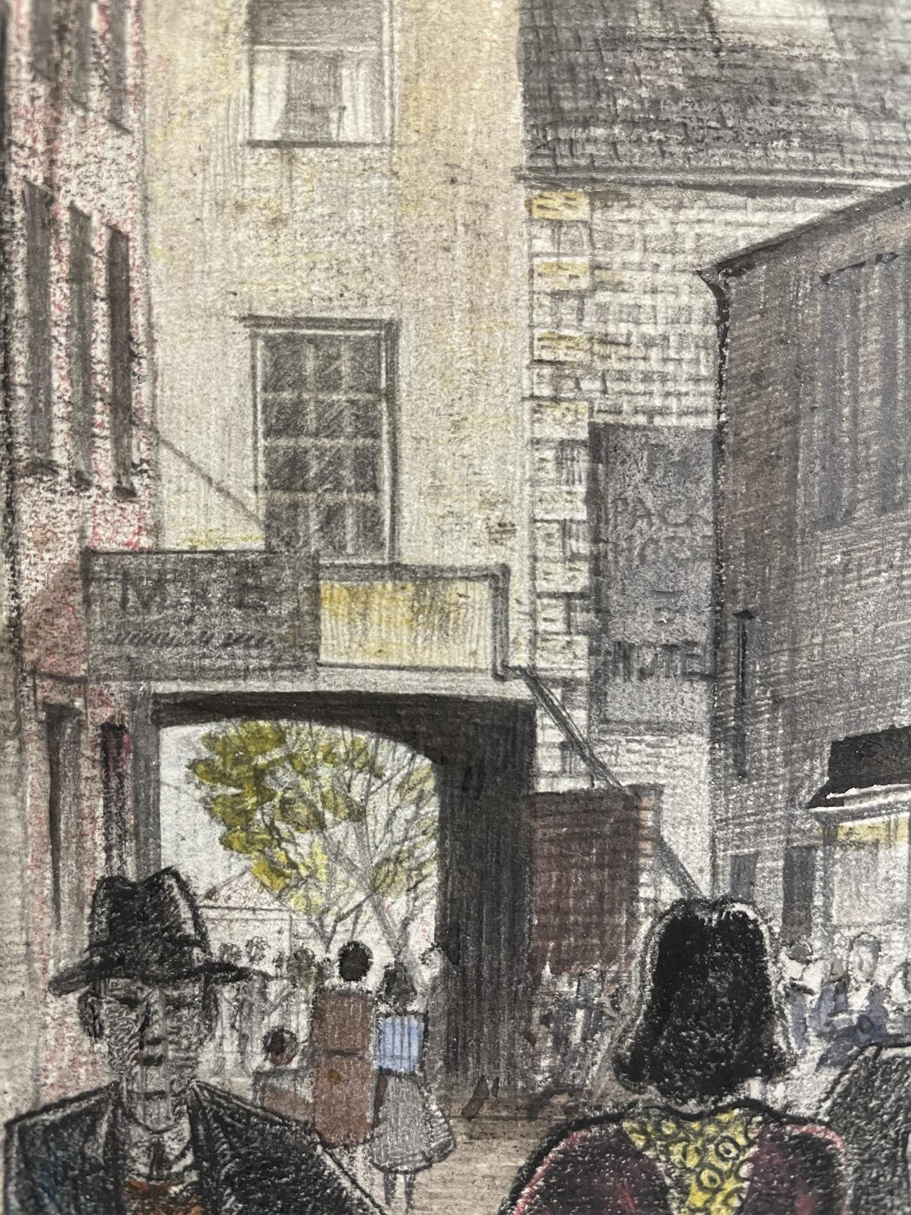 Frederick (Fred) Cecil Jones RBA (1891-1966) ''Huddersfield'' Indistinctly signed, inscribed and - Image 8 of 8