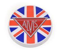 An Illuminated Car Display Sign: Alvis, with low voltage transformer, 43cm diameter