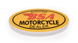 An Illuminated Car Display Sign: Authorised BSA Motorcycle Dealer, with low voltage transformer,