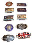 ~ Ten Assorted Enamel Car Badges, to include Hebden Brothers Ltd (x2), Bambers (x2), University