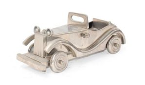 ~ A Chromed Metal Scale Model of a 1930's Motor Car, 29cm diameter