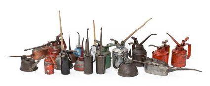 ~ Twenty Assorted Oil Cans, of various shapes and sizes