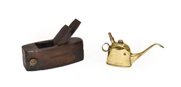 Joseph Lucas Ltd Birmingham: A No.40 Brass Mechanical Oiler Can, stamped marks to body and base,