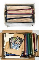 Worldwide accumulation in 2 Cartons, 1000s of stamps, m/ss, booklets and postal history, with