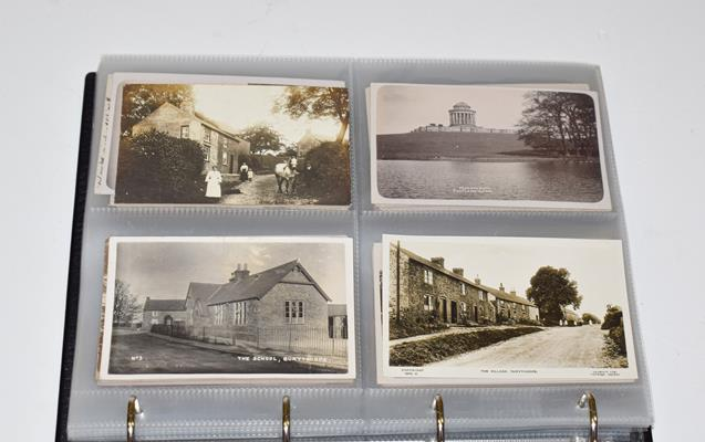 A Red Album Containing Approx. 134 Cards of North And East Yorkshire Villages. A valuable collection - Image 3 of 10