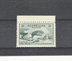 Australia 1932 Sydney Bridge 5/- blue-green, SG 143, cat.£425 for hinged. This a very attractive