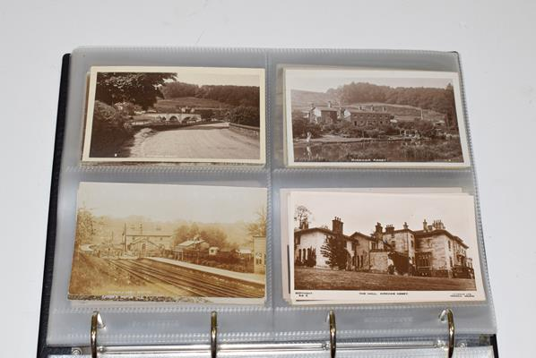 A Red Album Containing Approx. 134 Cards of North And East Yorkshire Villages. A valuable collection - Image 6 of 10