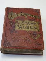 Vintage Lincoln album, housing worldwide collection of several hundred different stamps, mint and