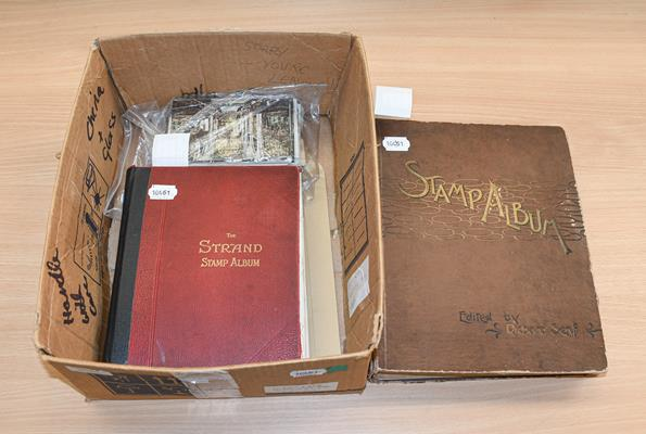 Worldwide, vintage albums, a somewhat battered Senf album for issues to 1899, with many hundreds