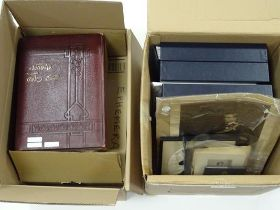 Wide-ranging accumulation in 4 cartons, with many 1000s of stamps on and off paper, the better