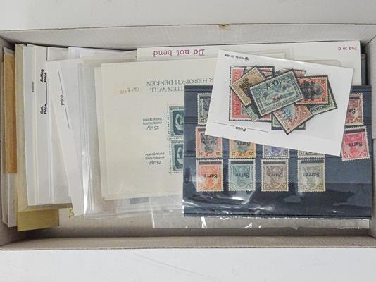 Germany and Area, Carton stuffed with packets of album pages representing collections bought in - Image 6 of 8
