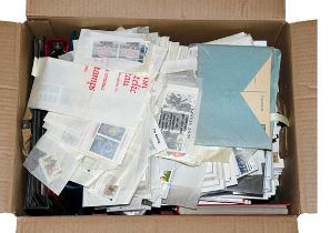 Carton full, incl. Jersey volume MNH 1941 onwards, stockbooks of GB mint mainly pre-decimal and