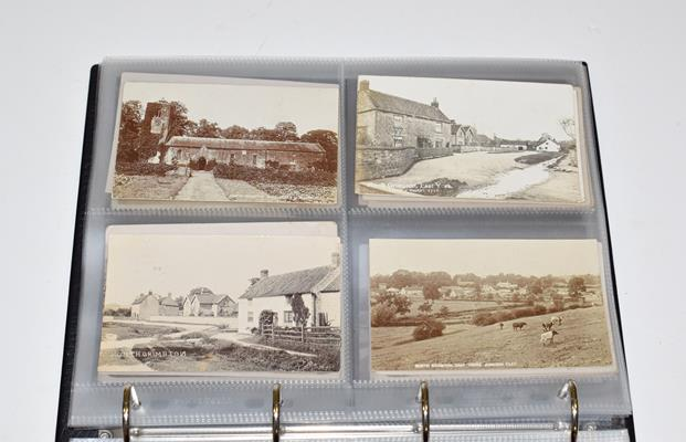 A Red Album Containing Approx. 134 Cards of North And East Yorkshire Villages. A valuable collection - Image 8 of 10