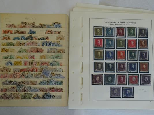 Worldwide, carton of many thousands of mint and used stamps on album pages and loose, accumulated - Image 3 of 6