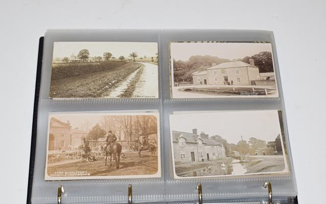 A Red Album Containing Approx. 134 Cards of North And East Yorkshire Villages. A valuable collection - Image 5 of 10