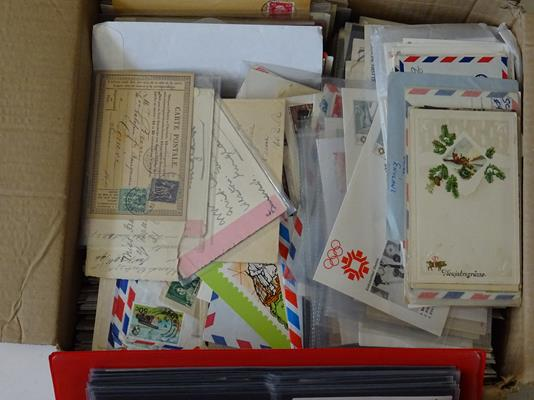 Worldwide Covers, Three Boxes of about 2500+ all-world covers 19th century onwards, including two - Image 9 of 12