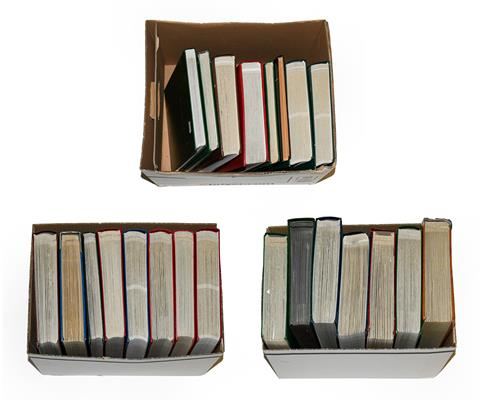 Europe large Accumulation in 23 Volumes, 10s of 1000s of mint/MNH and used stamps from classics
