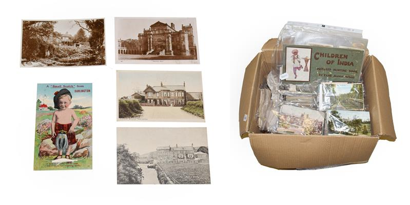 A Box Containing Approx. 1500 Cards sorted into bags of areas or A - Z. The largest proportion being