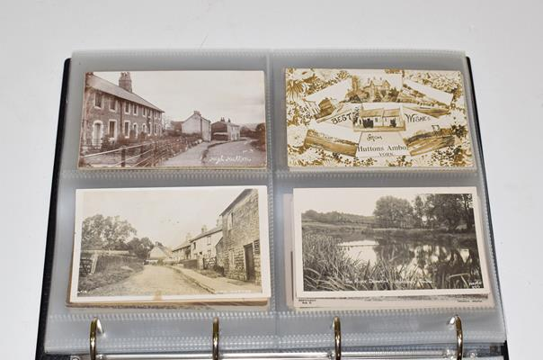 A Red Album Containing Approx. 134 Cards of North And East Yorkshire Villages. A valuable collection - Image 4 of 10