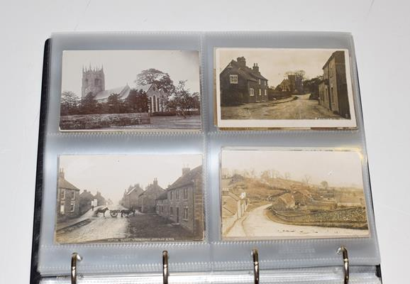 A Red Album Containing Approx. 226 Postcards of North And East Yorkshire Villages. An outstanding - Image 8 of 8