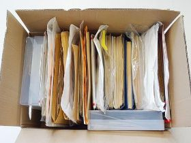 Eastern and South-Eastern Europe, Carton loaded with sheaves of album pages as bought by country