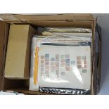 French Colonies, Carton containing a large stack of collections on album pages as bought in