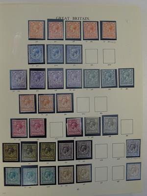 Great Britain, the KGV and KEVIII volume, a Windsor album brimming with varieties and covers,