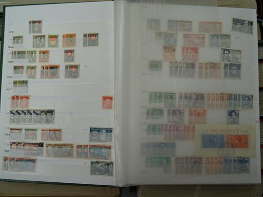 Europe large Accumulation in 23 Volumes, 10s of 1000s of mint/MNH and used stamps from classics - Image 2 of 3