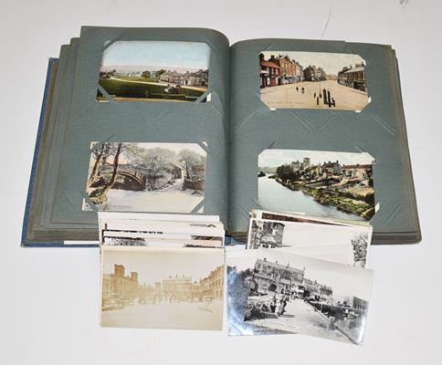 A Blue Album Containing Approx. 250 Postcards of Yorkshire. A wide selection over different - Image 5 of 5