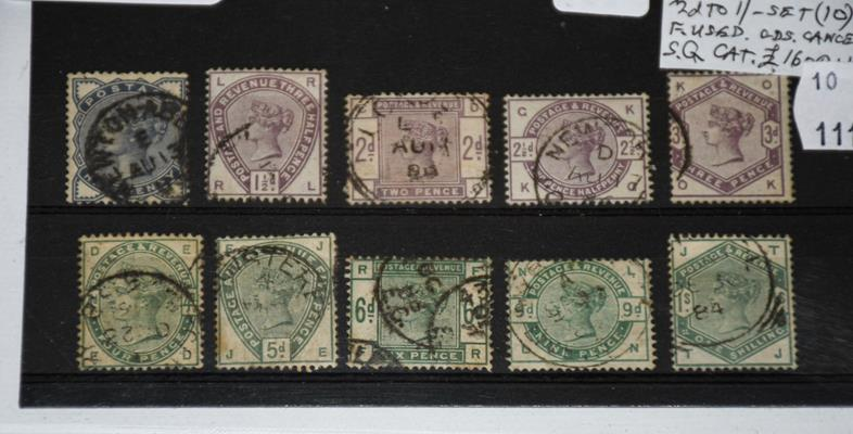 Great Britain, 1883-84 lilac and green set used with selected quality, all cds postmarks and
