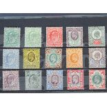 Great Britain, KEVII set to 1/-, 1902-10 mint set SG.215-313, approx. cat. £350 as cheapest types.